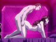 Animated girl with very fat dick in ass